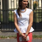 Fusta roz creion si bluza peplum – I still want to feel the summer