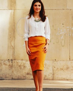 New fall outfit on the blog Wearing a mustard skirthellip